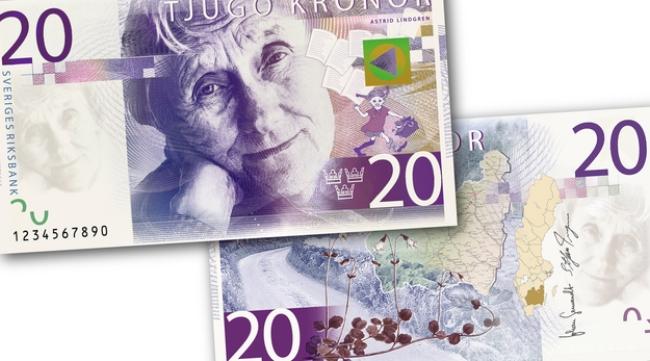 瑞典新版20克朗鈔票